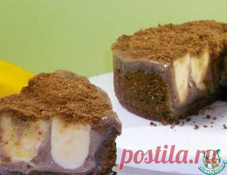 Бананово-шоколадный торт без духовки – кулинарный рецепт