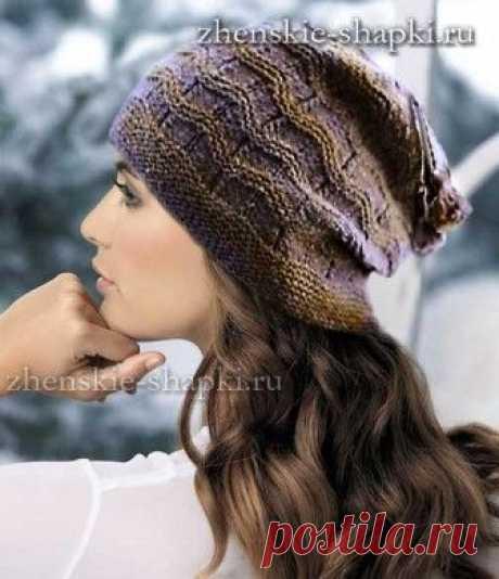 Los gorros tejidos para las mujeres. Los esquemas de la labor de punto de  100 b462e2f8bd4