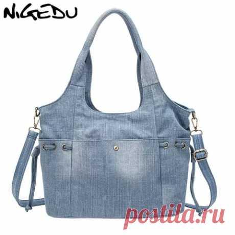 Джинсовая синяя женская сумка на плечо, маленький новый дизайн, Брендовые женские холщовые джинсы, женская сумка тоут, дорожные сумки, винтажные сумки через плечо