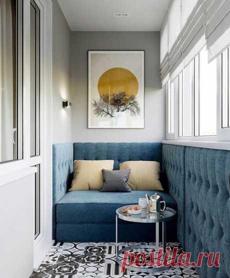 Прекрасный дизайн балкона