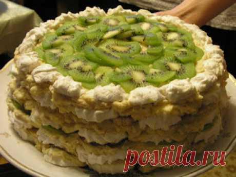 Вкусные рецепты: Десерт из зефира, бананов и киви