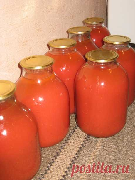 The most tasty tomato juice for the winter!