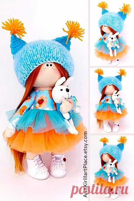 Gift Baby Doll Home Decor Doll Textile Soft Doll Tilda | Etsy