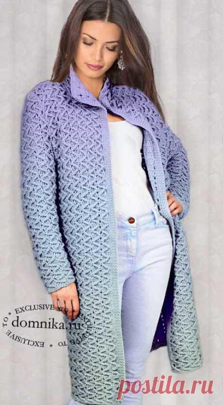 Вязание пальто на осень - схема и описание модной модели пальто