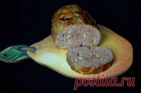 Рулет из рубленого мяса.