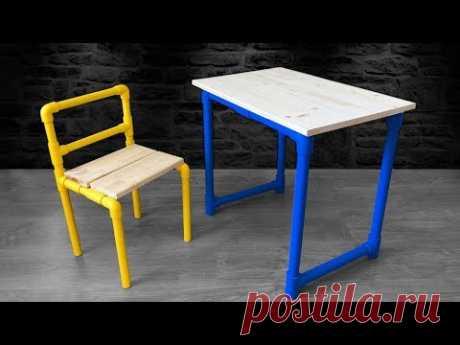 Cómo Hacer una Mesa y una Silla de PVC y MADERA | Escritorio Para Niños