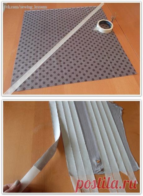 Изготовление косой бейки при помощи малярного скотча (Шитье и крой) – Журнал Вдохновение Рукодельницы
