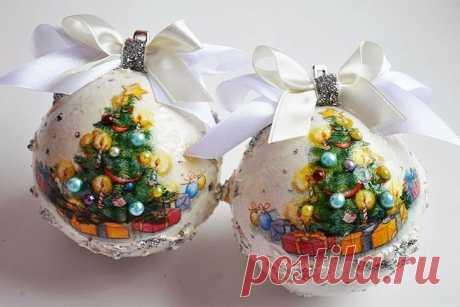 Декор новогодних шаров | Уроки рисования с Тессой Арт | Яндекс Дзен