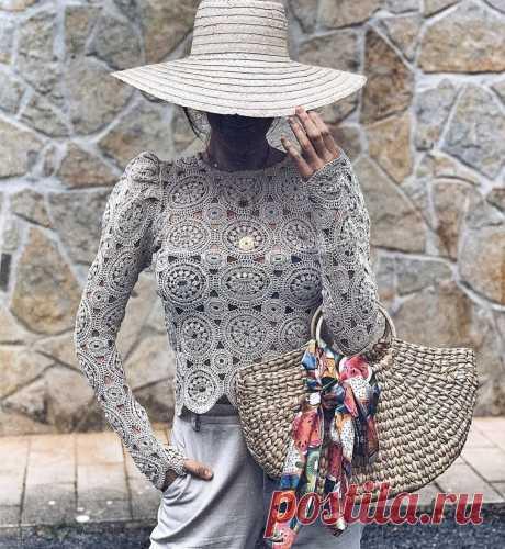 Вяжем крючком кружевные блузки. | Asha. Вязание и дизайн.🌶 | Яндекс Дзен