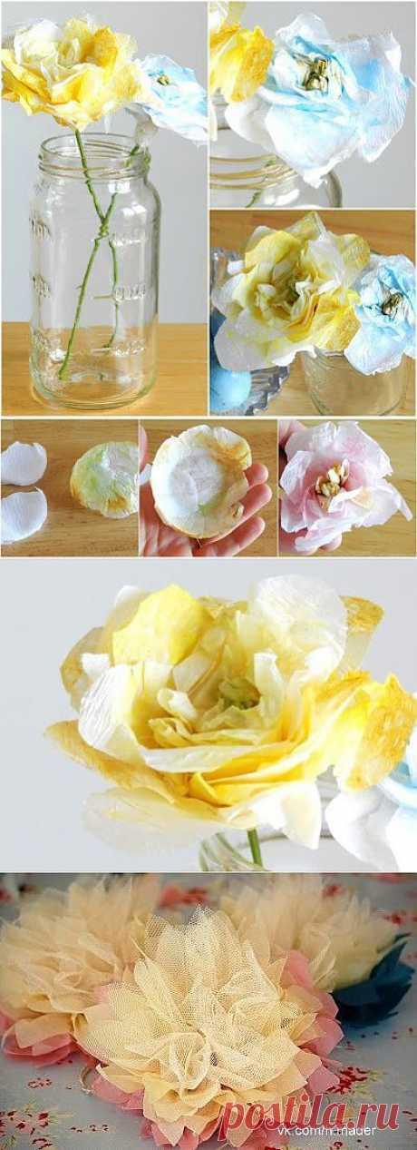 (+1) тема - Красивые цветы из бумаги. Много МК   СВОИМИ РУКАМИ
