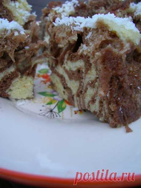 """Торт """"Зебра"""" в микроволновке / Торты / TVCook: пошаговые рецепты с фото"""