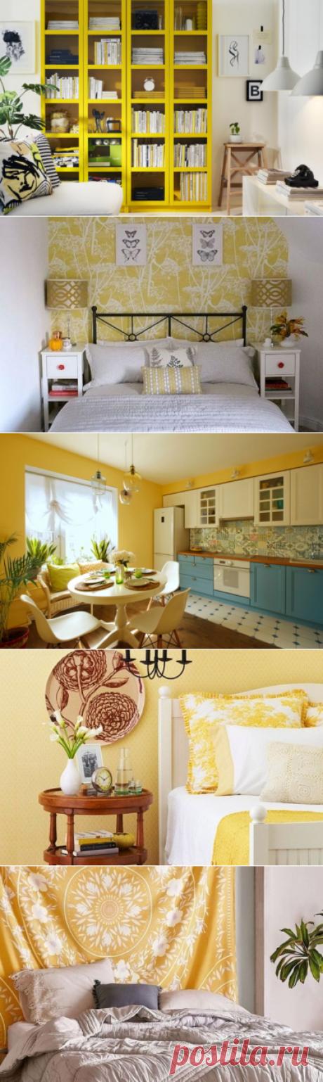 Жовтий колір в інтер'єрі — 40 ідей з фото - ЗЕЛЕНА САДИБА