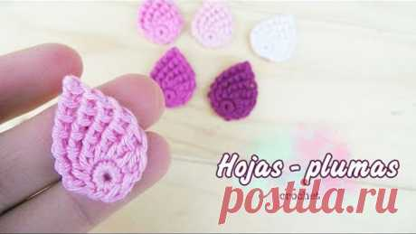 Hoja o pluma a crochet (muy fácil!!)