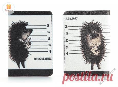 Ежик драг дилер - Кожаная обложка на паспорт  → Купить за 225 грн. → Цена, Отзывы
