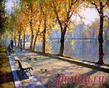 Художник Юрий Обуховский: лучезарный мир пейзажей, пронизанных солнцем