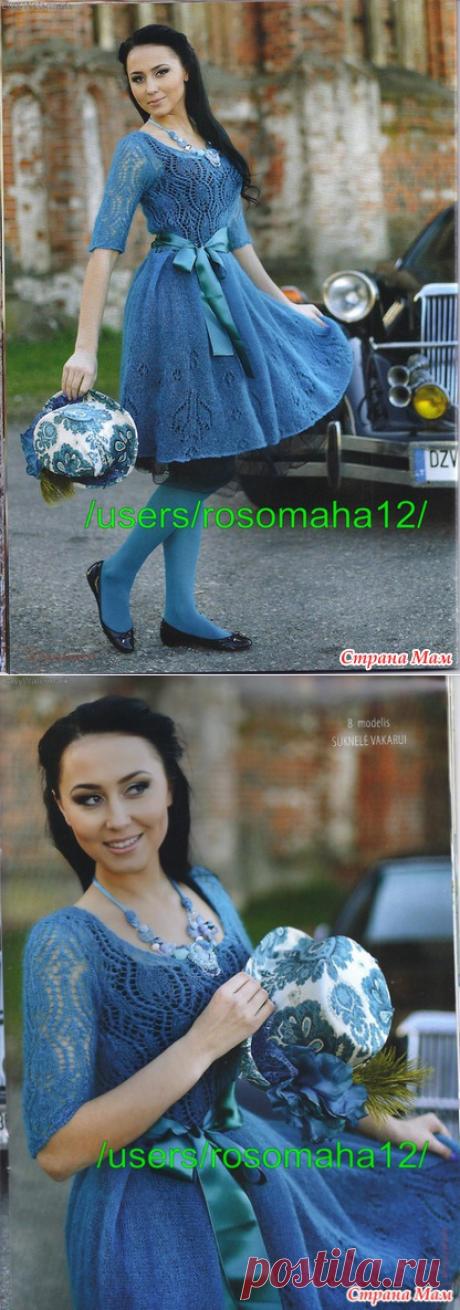 Платье из тонкого мохера - Вязание - Страна Мам