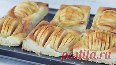 Творожный пирог с яблоками. Ароматный, нежный и очень вкусный яблочный пирог   Кулинарка   Яндекс Дзен