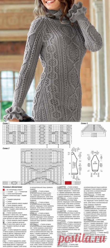 Необычные косы спицами для женского пуловера   Ажурные Узоры