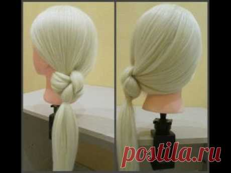 Прическа за 1 минуту.👍Необычный стильный образ))Hairstyle for 1 minute.👍 Unordinary stylish image))
