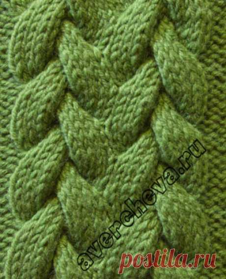 Узор 788 коса 15 петель | каталог вязаных спицами узоров
