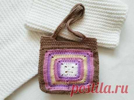 Вязаная крючком сумка для маленькой принцессы описание вязания
