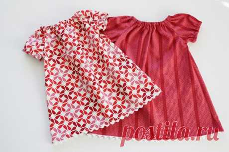 Летние платьица для малышек, мк — Рукоделие