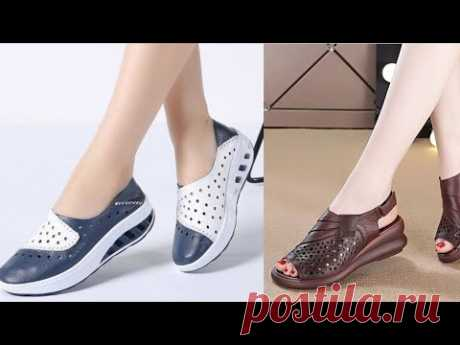 LATEST WOMEN CASUAL DRESSES FOOTWEAR AIR SHOES SANDAL COLLECTION #MrFashion