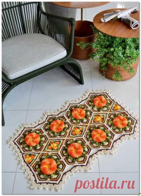 Роскошный мотив для коврика