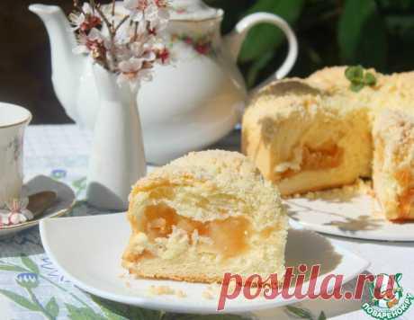 """Яблочный пирог """"Сливочный"""" – кулинарный рецепт"""