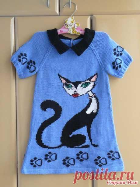 . Платье с кошкой - Вязание - Страна Мам