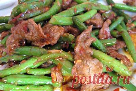 Зеленая фасоль со свининой :: JV.RU