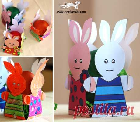 Los artículos entretenidos infantiles del papel con los modelos a la Pascua