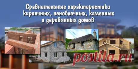Сравнительные характеристики кирпичных, пеноблочных, каменных и деревянных домов   Строительные материалы и изделия