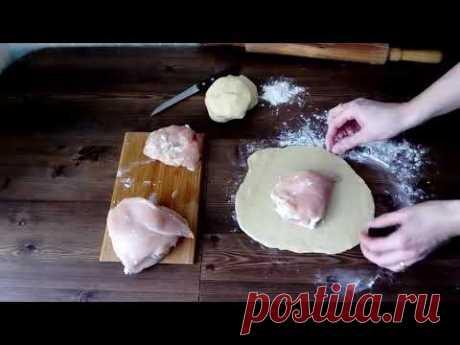 Куриная грудка с ананасами в мешочках. #готовимдома #куринаягрудка #курник