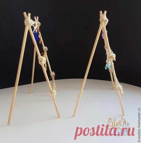 Эко-подставка под серьги из палочек для суши - Ярмарка Мастеров - ручная работа, handmade