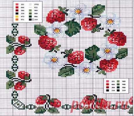 Motivos en punto de para la cocina. Hoy te traigo Cenefas de punto de cruz gratis para manteles. Siguiendo estos gráficos puedes hacer tus bordados fácilmente.
