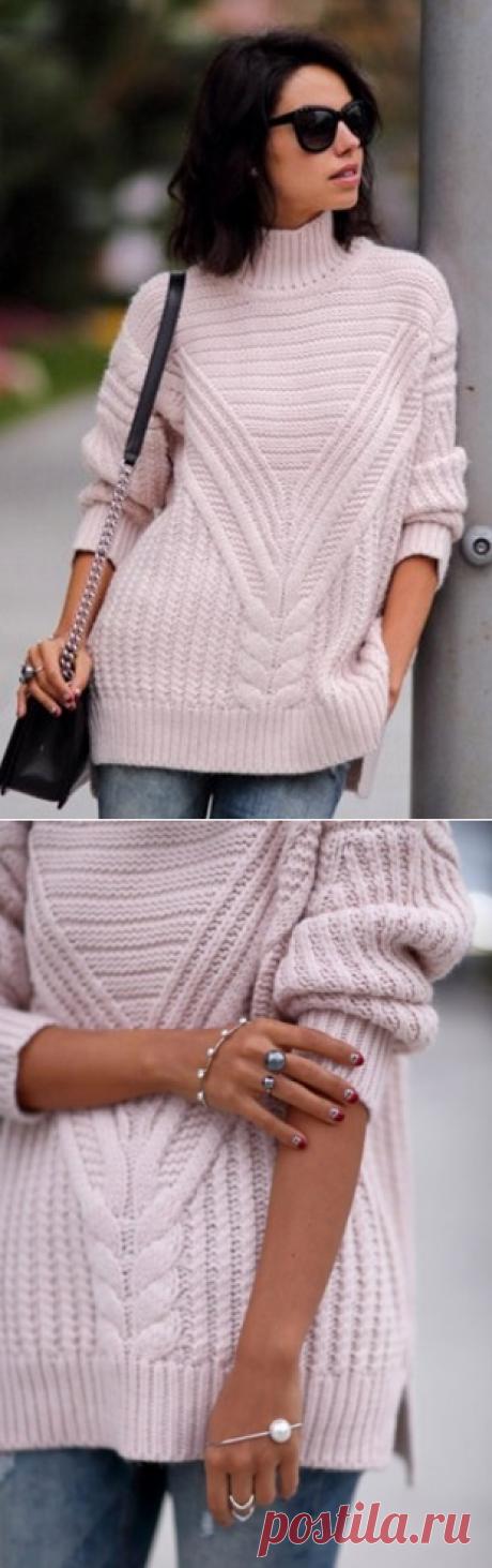 Пуловер из жгутов спицами / Handlife.ru - творческая жизнь!