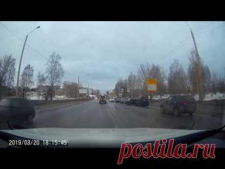 Авария 20.03.2019 г.Кострома, ул.Магистральная - YouTube