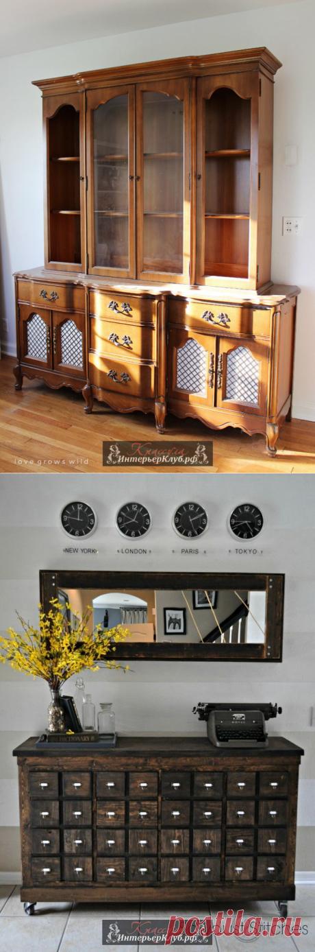 Переделка мебели своими руками до и после, идеи переделки старой мебели своими руками