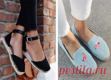 Эспадрильи - с чем носить модную обувь весной и летом (фото)
