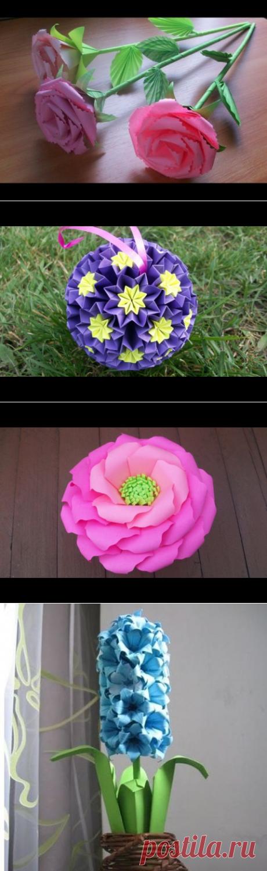 Цветы, кусудамы и подарки из бумаги. Все мастер-классы есть на моем канале Ютуб и группе вКонтакте Кусудамы, оригами и другие рукодельные подарки