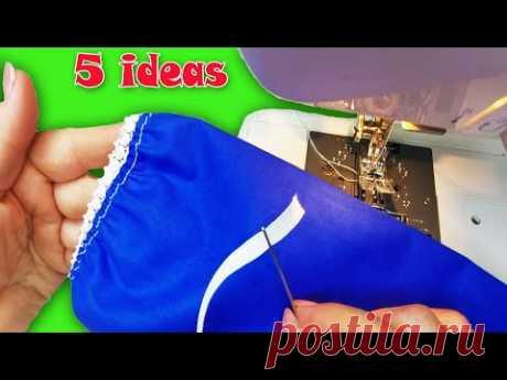 Швейные основы. 5 простых и красивых способов обработки низа рукава на резинке