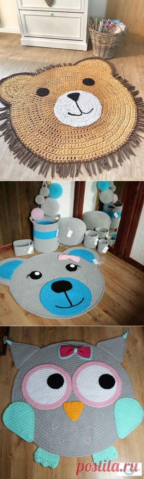 Простые детские коврики крючком: идеи для вдохновения — Сделай сам, идеи для творчества - DIY Ideas