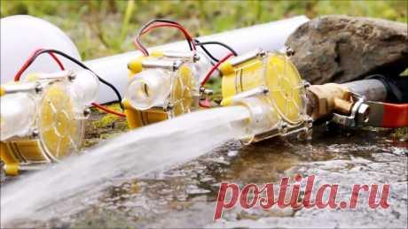 Бесплатная энергия из ручья. Мини ГЭС своими руками