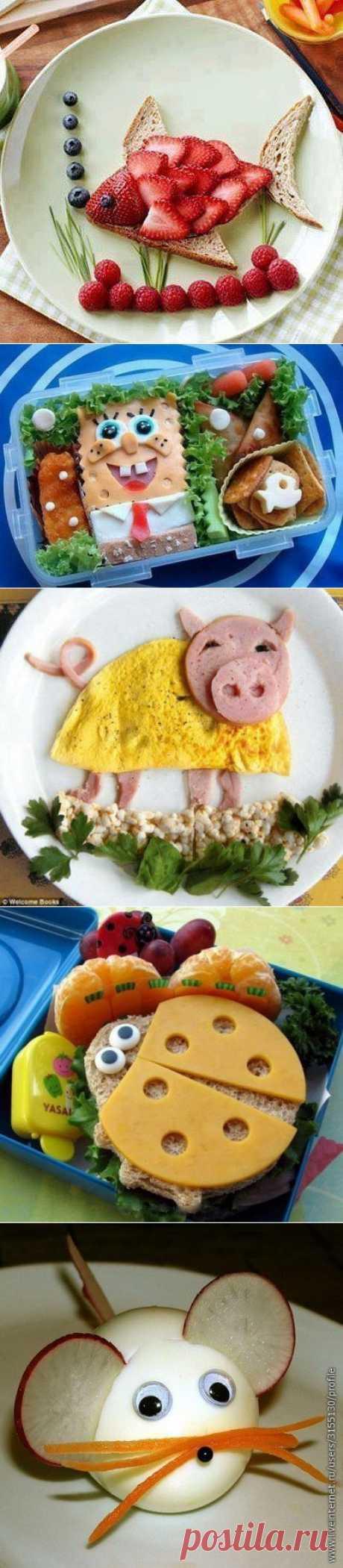 Кулинарные идеи: веселый завтрак для детей. Пробуем повторить!