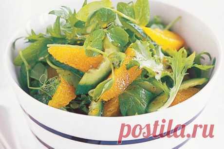 Апельсиновый салат с огурцом — Кулинарная книга - рецепты, фото, отзывы