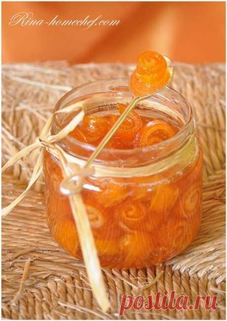 Варенье из апельсиновых корок «Завитушки»