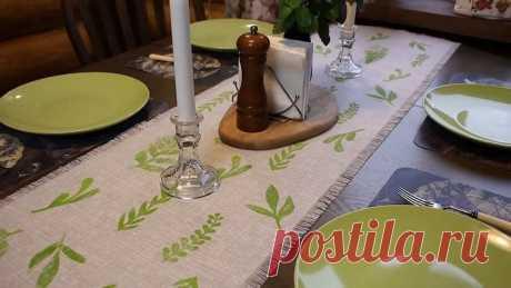 Как создать эксклюзивную скатерть, дорожку или салфетки для уюта в доме