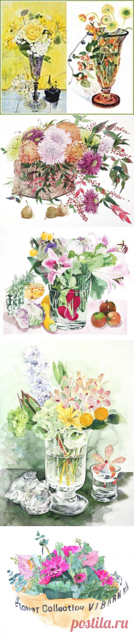 Акварельные Цветы / Аяко Тсуге