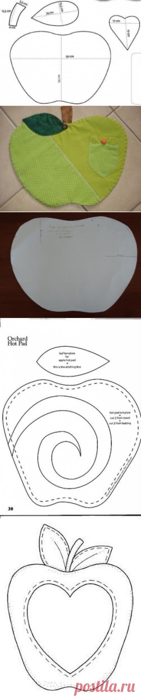 Яблочки для кухни в стиле печворк — Рукоделие